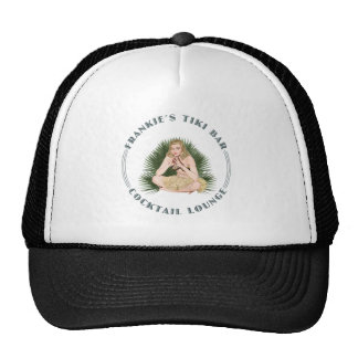 Frankie s Tiki Bar Hula Girl Cocktail Lounge Mesh Hats