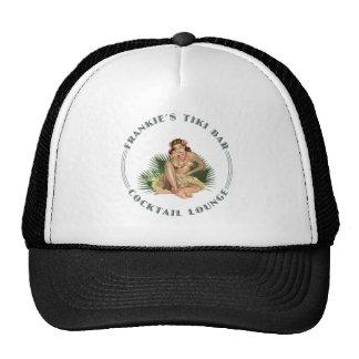 Frankie s Tiki Bar Hula Girl Cocktail Lounge Mesh Hat