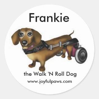 Frankie Small, Frankie, the Walk 'N Roll Dog Classic Round Sticker