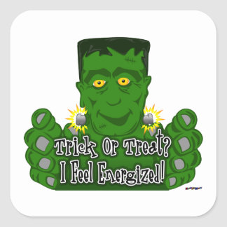 Frankie Trick Or Treat I Feel Energized Stickers