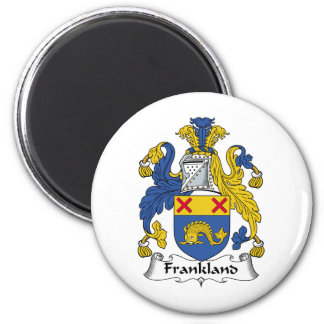 Frankland Family Crest 6 Cm Round Magnet