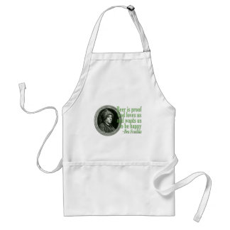 Franklin Beer Quote Standard Apron