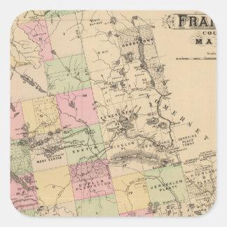 Franklin County, Maine Square Sticker