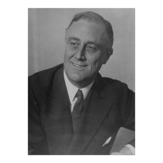 FRANKLIN D. ROOSEVELT 1924 National Archives Photo Poster