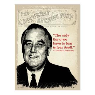 Franklin D. Roosevelt Quote Postcard