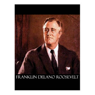 Franklin Delano Roosevelt Customizable Products Postcard