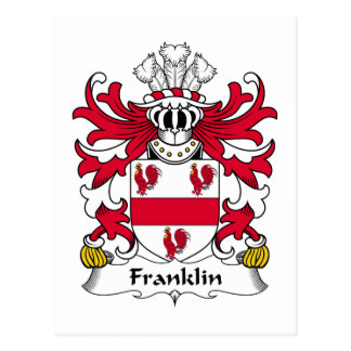 Franklin Family Crest Postcard