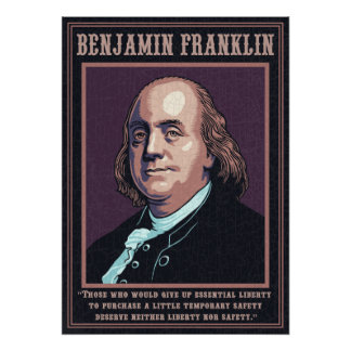 Franklin -Liberty Poster