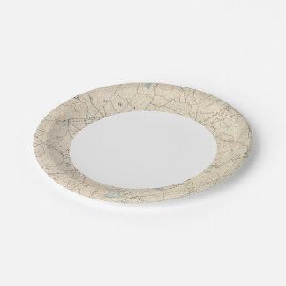 Franklin, Massachusetts Paper Plate