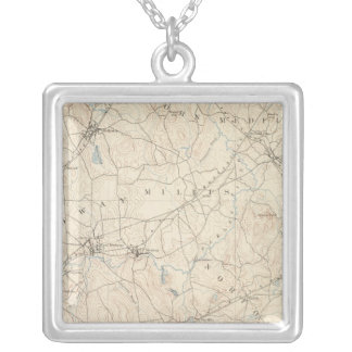 Franklin, Massachusetts Silver Plated Necklace