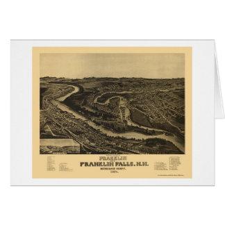 Franklin, NH Panoramic Map - 1884 Card