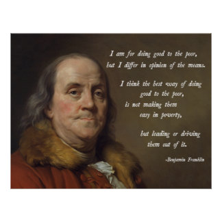 Franklin Poverty Quote Posters