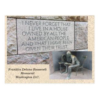 Franklin Roosevelt Memorial - postcard