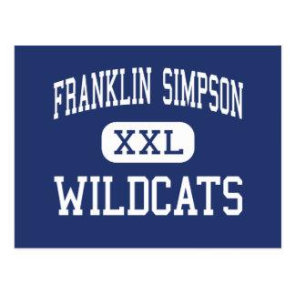 Franklin Simpson Wildcats Middle Franklin Postcard