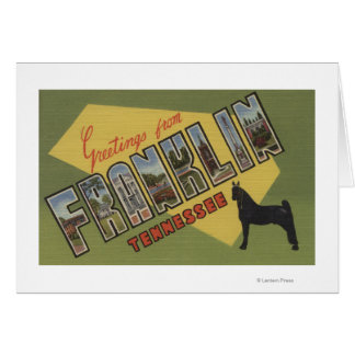 Franklin, Tennessee - Large Letter Scenes Card