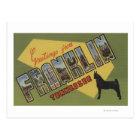 Franklin, Tennessee - Large Letter Scenes Postcard