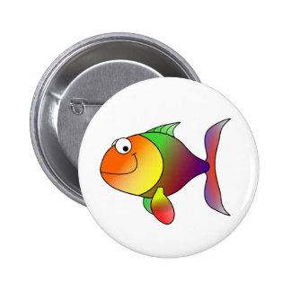 Franklin the Funky Fun Cartoon Fish 6 Cm Round Badge