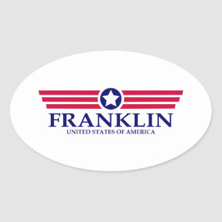 Franklin TN Pride Oval Sticker