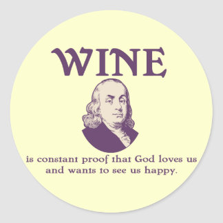 Franklin - Wine Classic Round Sticker