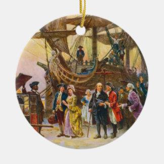 Franklin's Return to Philadelphia by Jean Ferris Christmas Ornament