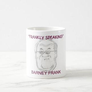 """FRANKLY SPEAKING"", BARNEY FRANK CARICATURE MUG"