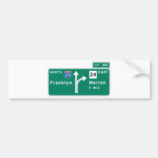 Franklyn Marion Highway Sign Bumper Stickers
