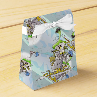 FRANKY ALIEN MONSTER Tent with Ribbon Favor Box