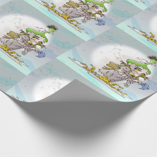 """FRANKY BUTTER ALIEN   30"""" x 30'   Tyvek Wrapping P Wrapping Paper"""