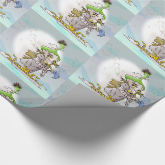 """FRANKY BUTTER ALIEN   30"""" x 30'    Wrapping Paper"""