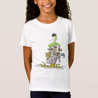 FRANKY BUTTER ALIEN CARTOON Babydoll T-Shirt