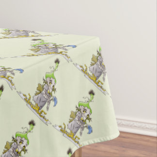 "FRANKY BUTTER ALIEN Tablecloth COLOR LIPS 52""x70"""