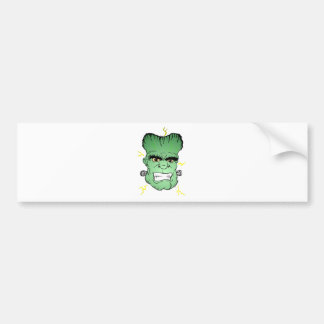 Franky face bumper sticker