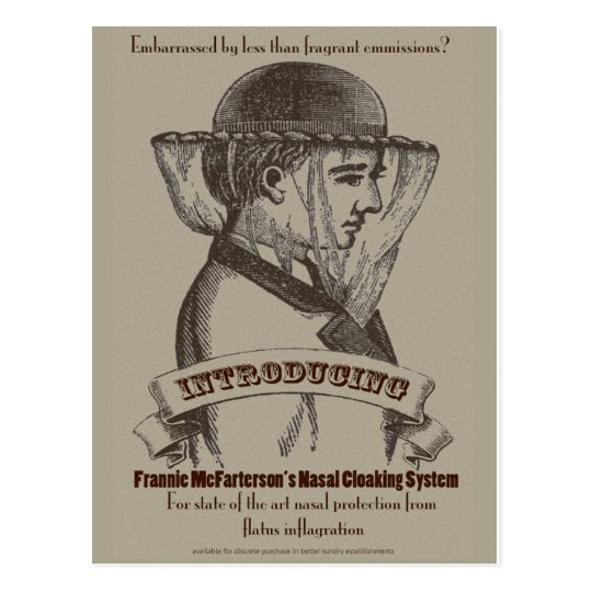 Frannie McFarterson's Nasal Cloaking System Postcard