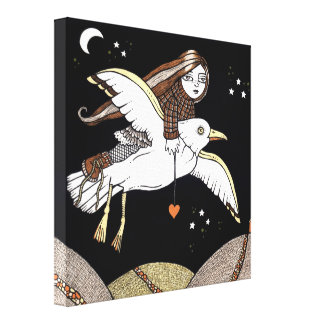Frannies Flight of Fancy Gallery Wrapped Canvas