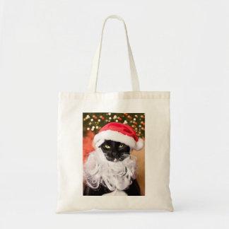 Franny Claus Sad Santa Kitty Budget Tote Bag