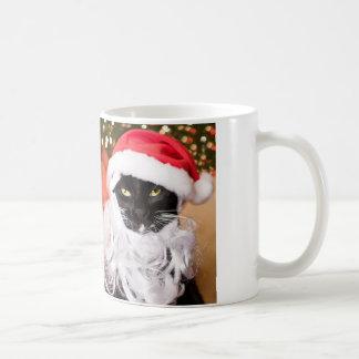 Franny Claus Sad Santa Kitty Coffee Mug