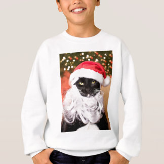 Franny Claus Sad Santa Kitty Sweatshirt