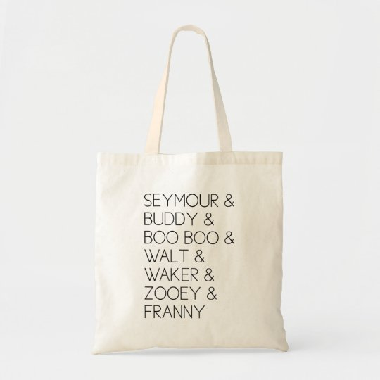 Franny Zooey Glass Siblings Tote Bag
