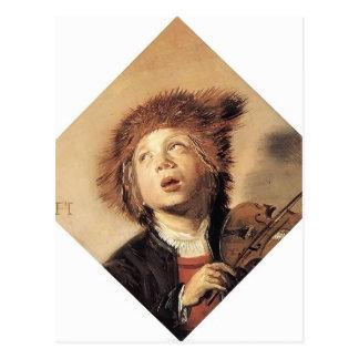 Frans Hals- A Boy with a Viol Post Card