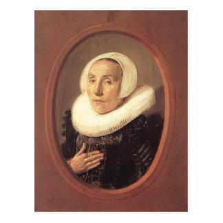 Frans Hals- Anna van der Aar Postcard