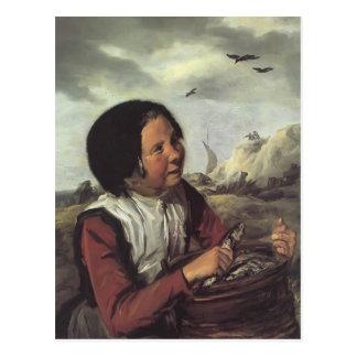 Frans Hals- Fisher Girl Postcard