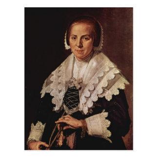 Frans Hals- Portrait of a Woman with a Fan Postcard