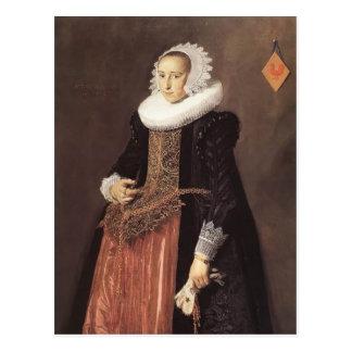 Frans Hals- Portrait of Aletta Hanemans Postcard