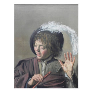 Frans Hals- Singing Boy with a Flute Post Cards