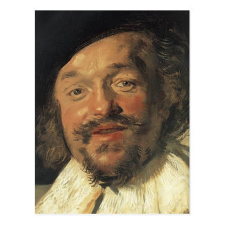 Frans Hals- The Merry Drinker (detail) Post Cards
