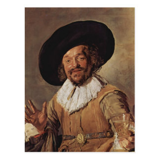 Frans Hals- The Merry Drinker Postcard