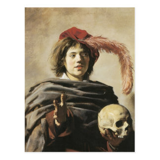 Frans Hals Young Man With Skull Post Cards