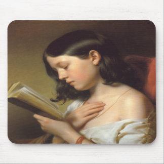 Franz Eybl - Lesendes Mädchen (Reading Girl), 1850 Mousepad