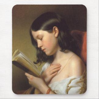 Franz Eybl - Lesendes Mädchen (Reading Girl), 1850 Mouse Pad