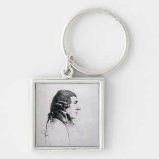 Franz Joseph Haydn, 1809 Silver-Colored Square Key Ring